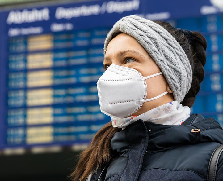 máscaras autorizadas em aeroportos